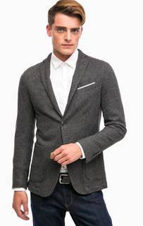 Трикотажный пиджак с накладными карманами Liu Jo Uomo