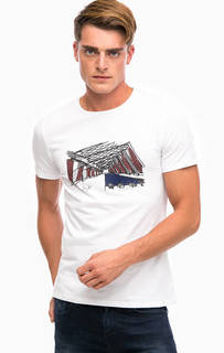 Белая футболка с принтом Liu Jo Uomo