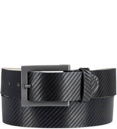 Черный кожаный ремень Sergio Belotti