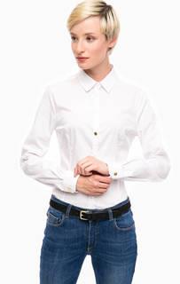 Белая классическая рубашка на пуговицах Trussardi Jeans