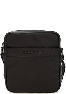 Коричневая сумка с одним отделом Trussardi Jeans