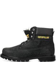 Утепленные ботинки из нубука Caterpillar