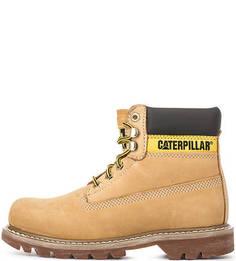 Коричневые замшевые ботинки Caterpillar