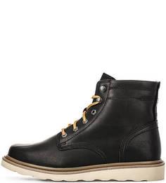 Кожаные ботинки с яркими шнурками Caterpillar