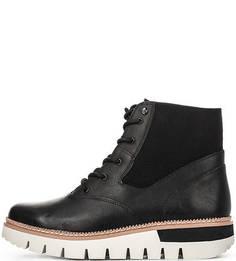 Кожаные ботинки с текстильными вставками Caterpillar