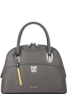 Серая сумка из сафьяновой кожи Cromia