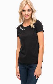 Трикотажная футболка с принтом Mavi