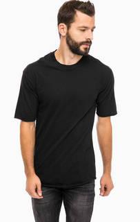 Черная хлопковая футболка с круглым вырезом Alcott