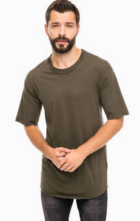 Хлопковая футболка цвета хаки Alcott