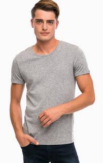 Серая хлопковая футболка Mavi