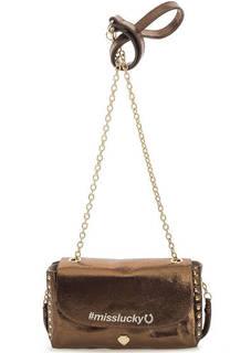Блестящая маленькая сумка через плечо Le Pandorine