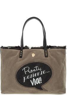Двусторонняя сумка со съемным отделением Le Pandorine