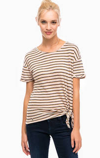 Льняная футболка в полоску Pepe Jeans