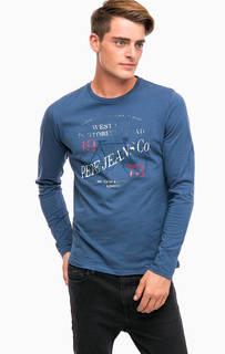 Хлопковая футболка с принтом Pepe Jeans