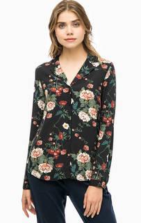 Рубашка на пуговицах с цветочным принтом Ichi