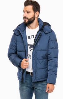 Синяя стеганая куртка с капюшоном Wrangler