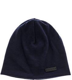 Синяя трикотажная шапка с содержанием шерсти Lagerfeld