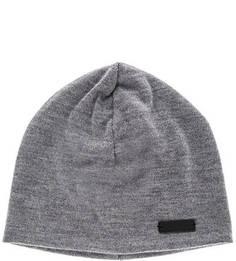 Серая трикотажная шапка с содержанием шерсти Lagerfeld