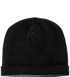 Черная шапка с отворотом Lagerfeld