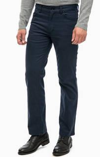 Синие хлопковые брюки прямого кроя Mustang