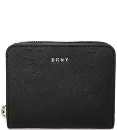 Черный кошелек из сафьяновой кожи Dkny