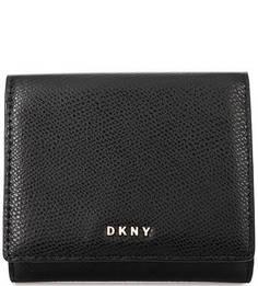 Черный кошелек из натуральной кожи Dkny