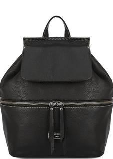 Черный кожаный рюкзак с откидным клапаном Picard