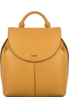 Желтый кожаный рюкзак с откидным клапаном Picard