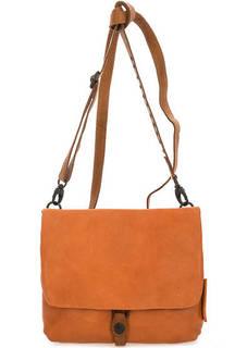 Оранжевая кожаная сумка через плечо Aunts & Uncles