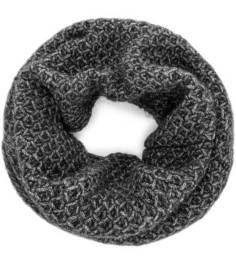 Серый вязаный шарф-хомут с серебристой нитью Canoe