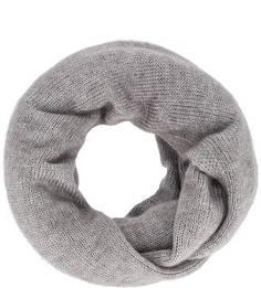 Серый шарф-хомут тонкой вязки Canoe