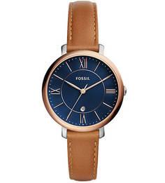 Часы с циферблатом синего цвета Fossil