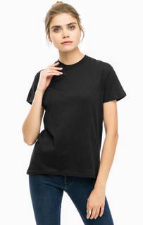 Хлопковая футболка с вырезом на спине Cheap Monday
