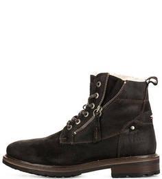 Замшевые ботинки на молнии и шнуровке S.Oliver