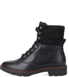 Кожаные ботинки с замшевыми вставками Gant