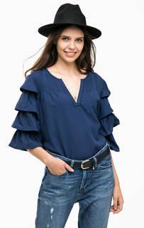 Синяя блуза свободного кроя Scotch&Soda