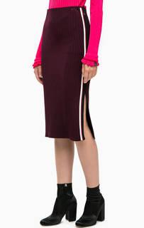 Фиолетовая трикотажная юбка с разрезом Scotch&Soda