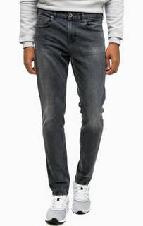 Серые джинсы скинни с потертостями Scotch&Soda