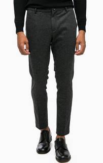 Серые зауженные брюки с содержанием шерсти Scotch&Soda