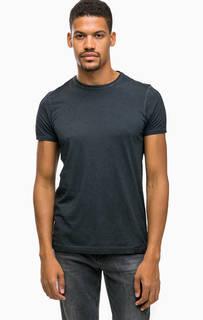 Серая хлопковая футболка с короткими рукавами Scotch&Soda