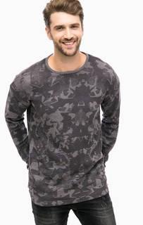 Серая хлопковая футболка с круглым вырезом Mavi