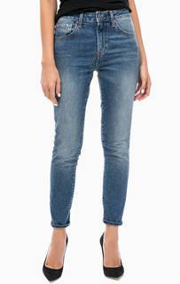 Укороченные джинсы скинни с завышенной талией Mavi