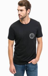 Черная хлопковая футболка с карманом Calvin Klein Jeans