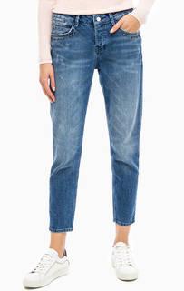 Укороченные джинсы бойфренды с декором Rich&Royal