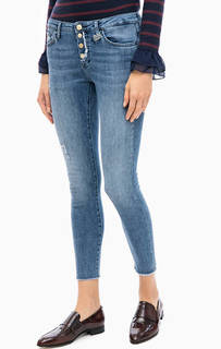 Укороченные зауженные джинсы на болтах Rich&Royal