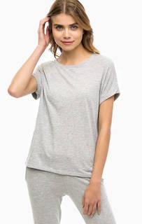 Однотонная серая футболка Juvia