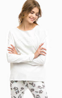 Белый хлопковый свитшот Juvia