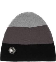 Серая шапка в полоску Buff