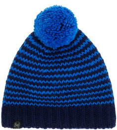 Синяя шапка с помпоном Buff