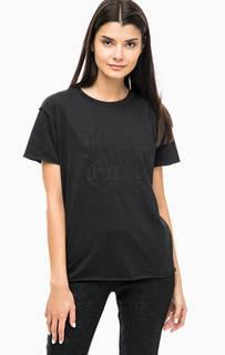 Черная футболка с короткими рукавами Juicy by Juicy Couture